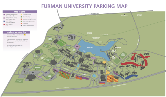 Furman parking map (Furman)